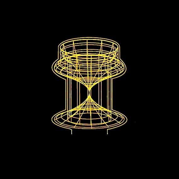 Werewtr 3D Night Light 7 Farben Ändern 3D Led Abstrakt Kegel Schreibtischlampe Touch Button Sanduhr Modellierung Kinder Gesch