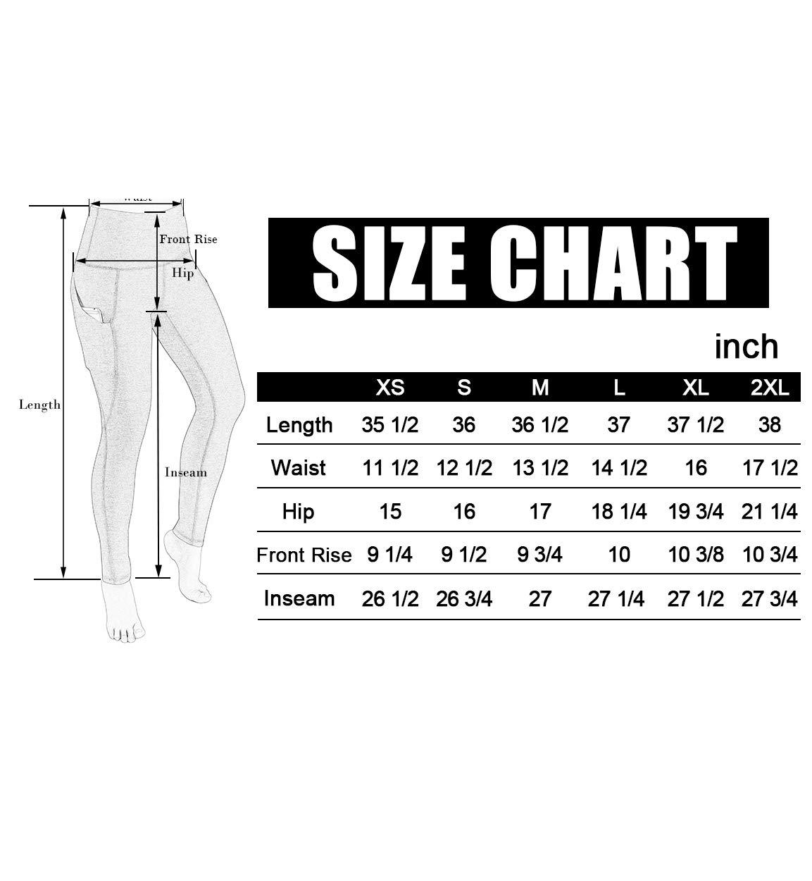 ODODOS High Waist Out Pocket Yoga Pants Tummy Control Workout Running 4 Way Stretch Yoga Leggings,Black,Medium by ODODOS (Image #7)