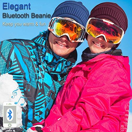 alta caliente con de del sombrero auricular Gorro unisex Gorra Sombrero auricular hilos Bluetooth gorrita del Gorrita del adulta del del Mic cubiertas Bluetooth del oído moda de Mydeal Azul tejida suave la BB027 qAZ0w1xZSz