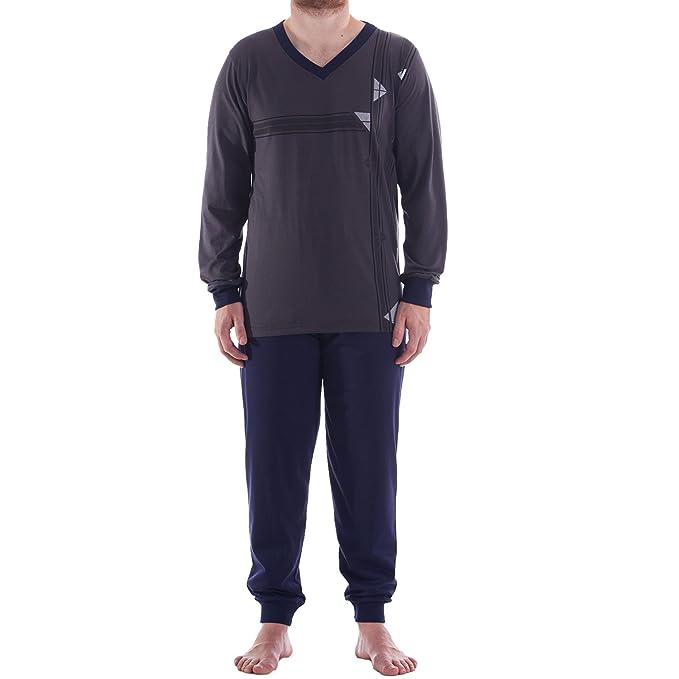 Lucky - Pijama - Rayas - Manga Larga - para hombre gris 2 mes