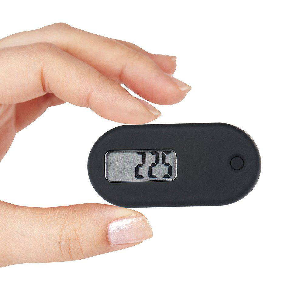 HUABOLA CALYN Simple Walking Digital Pedometer Step Counter with Clip and Lanyard