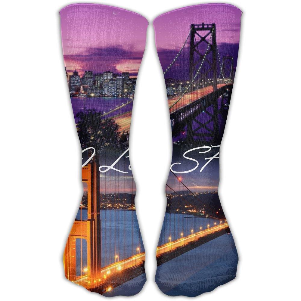 SESY I Love SF Unisex Crew Socks Short Sports Socks.
