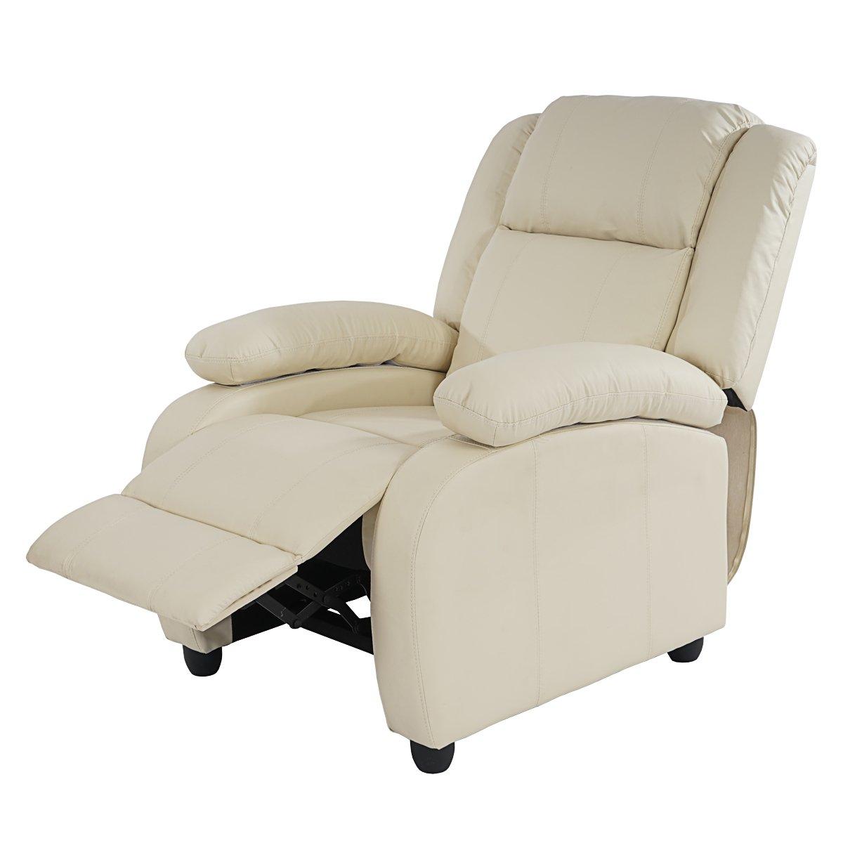 Relaxsessel günstig  Fernsehsessel Relaxsessel Liege Sessel Lincoln, Kunstleder ~ creme ...