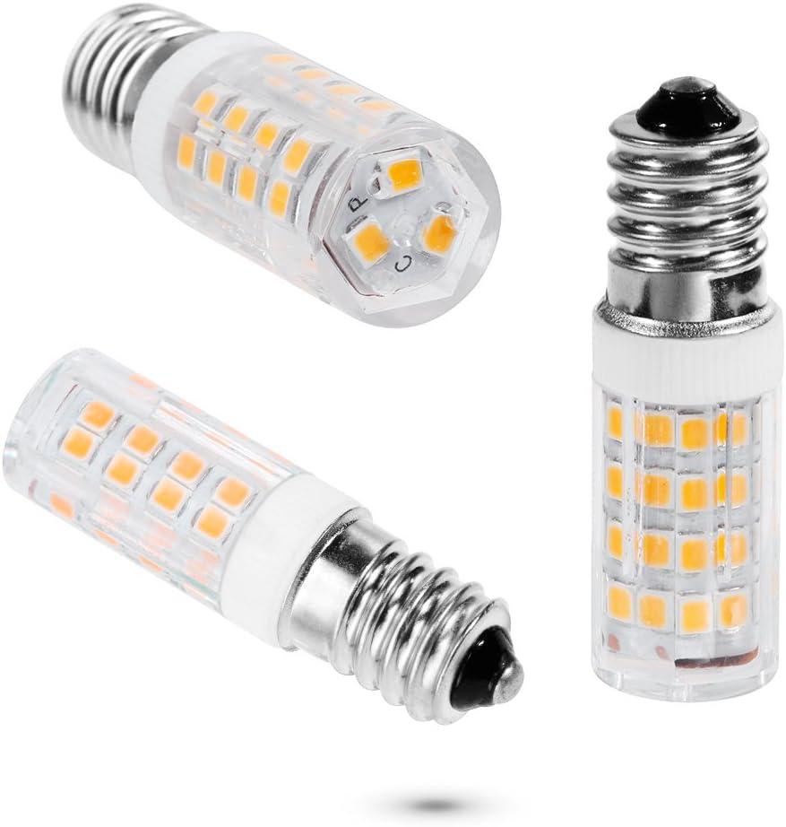 Anpro 8pcs E14 5W Tornillo blanco cálido LED Lámparas, 360 ° Ángulo de haz, no regulable, 360lm: Amazon.es: Iluminación