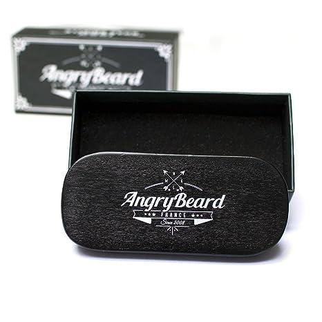 Angrybeard Babero de barba con Barba Shaper - Delantal de barba negra con Barba Shaper Delantal