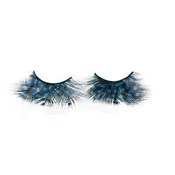 865a00a4dd8 Amazon.com : EOWEO Women Fancy Soft Long Feather False Eyelashes Eye Lashes  Makeup Party Club SB : Beauty