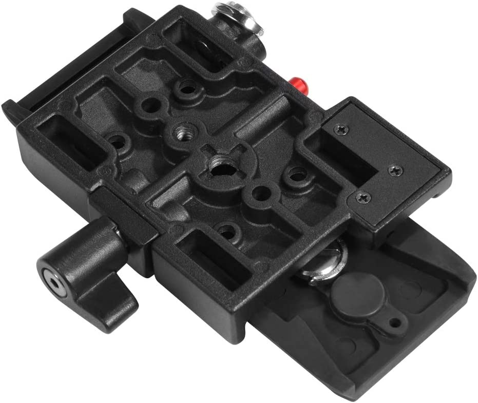Acouto Aluminium Alloy Quick Release Plate QR Plate Adapter with 1//4 and 3//8 Screws for Camera