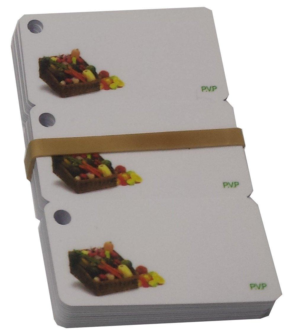 16x3 Tarjetas PVC Porta Precios Frutas y Verduras: Amazon.es ...