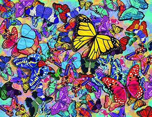 Springbok Puzzles - Butterfly Frenzy - 500 Piece Jigsaw Puzzle - Large 18 Inches by 23.5 Inches Puzzle - Made in USA - Unique Cut Interlocking Pieces