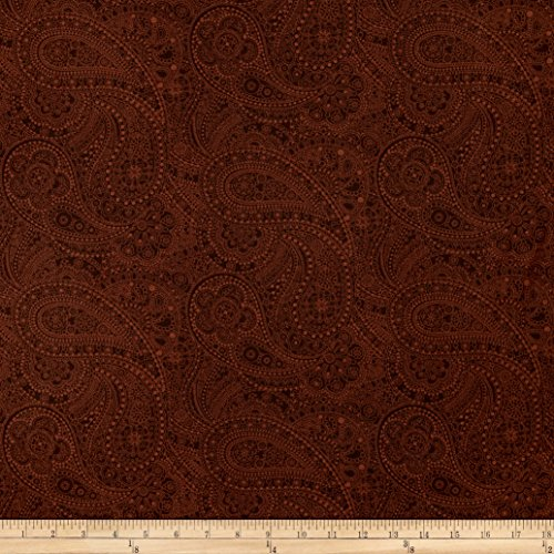 108in Wide Quilt Back Chelsea Dot Paisley Brown Fabric By The Yard (Chelsea Quilt)