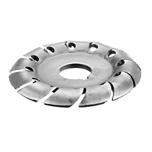 65mm Wood Shaping Disc Wood Carving Disc 16mm Bore 12 Teeth Extreme Shaping Disc for 100/115 Angle Grinder Woodworking Tool (Tamaño: 65mm)
