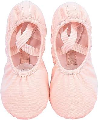Amazon.com: wu-shoes Zapatillas de baile para niños, ballet ...