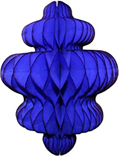product image for 3-Pack 10 Inch Honeycomb Tissue Paper Hanging Chandelier Decoration (Dark Blue)