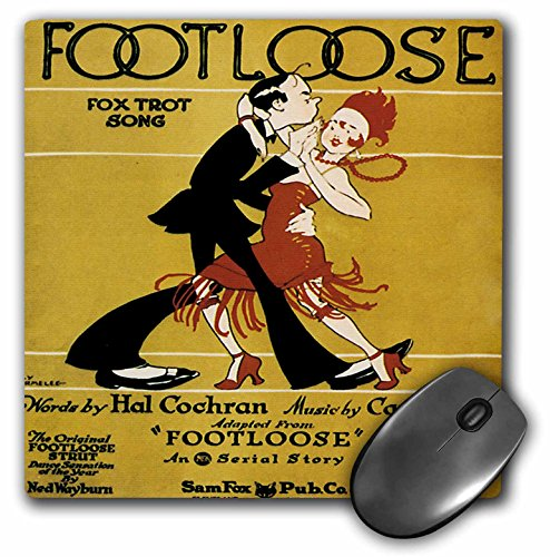 Footloose Fox Trot Song with 20s style Couple Dancing - Mouse Pad, 8 by 8 inches (mp_171010_1) -