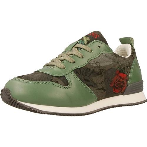 Verde Guess Niña Para Marca Color Zapatillas Modelo qUg6n