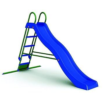 Wac Scivolo Da Giardino In Plastica Per Bambini Con Solida Struttura In Metallo 5 Gradini Dimensioni 285 X 150 X 168 Cm