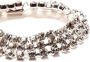 Amazon.com: Three Row Swarovski Crystal Bracelet / 3 Strand ...