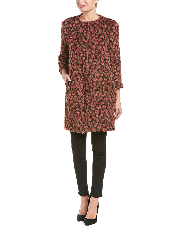 Trina Turk Womens Sumptuous Alpaca & Wool-Blend Coat, 8, Pink