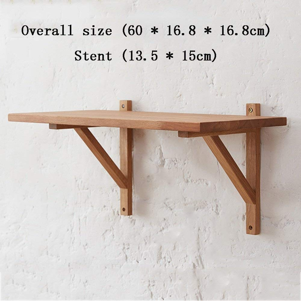 YUEQISONG Shelf Solid Wood Tripod Word Bar Environmental Protection Incorporated Sort Out Living Room Bedroom, 6016.816.8cm