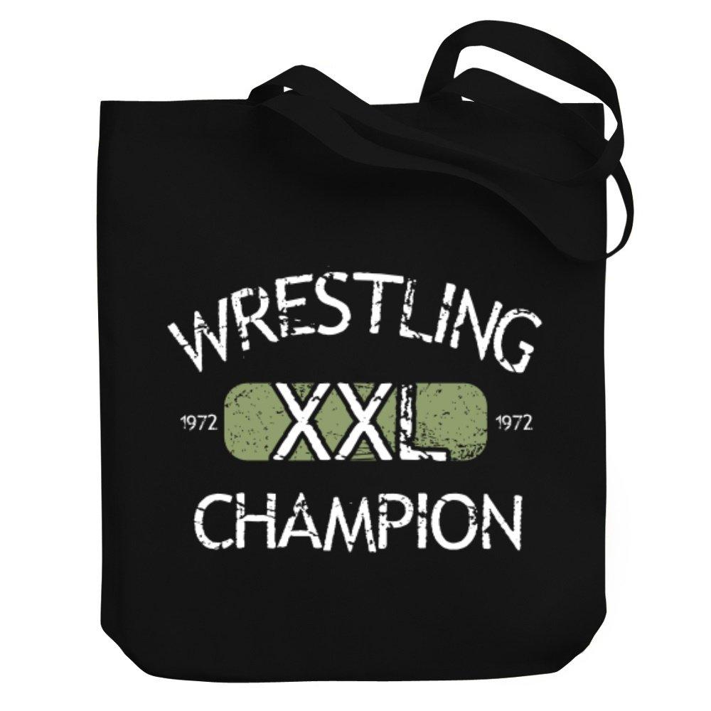 Teeburon Wrestling XXL CHAMPION Canvas Tote Bag