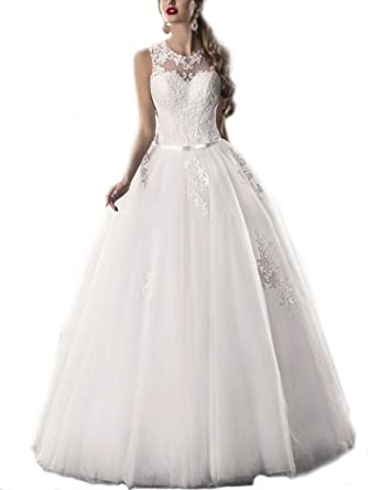 WeddingDazzle Lace Appliques Ball Gowns Vintage Wedding Dresses Plus ...
