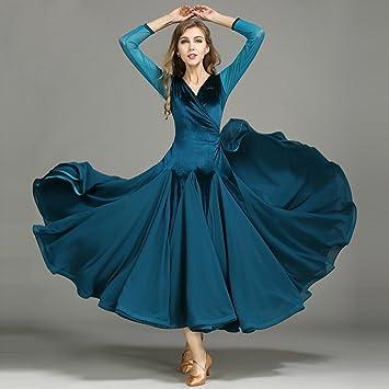Xueyanwei Moderna Dama De Terciopelo Moderno Vestido De Baile ...