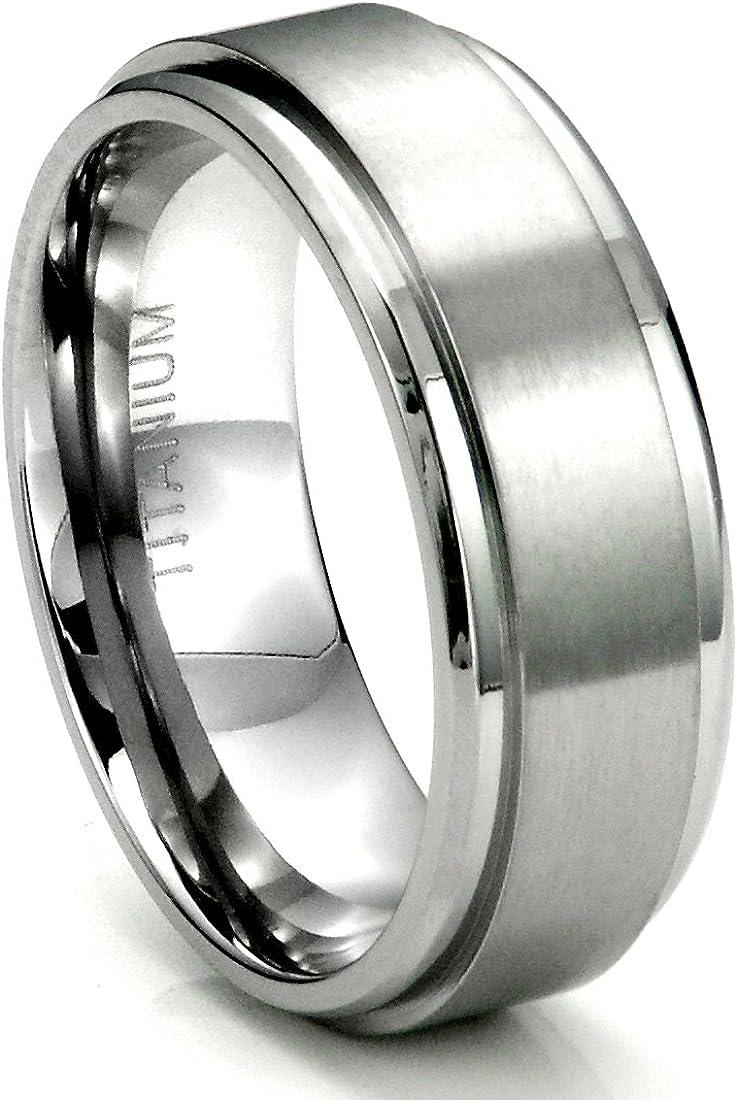 Metal Factory Titanium 4MM High Polish Plain Dome Wedding Band Ring Sizes 6 to 13.5
