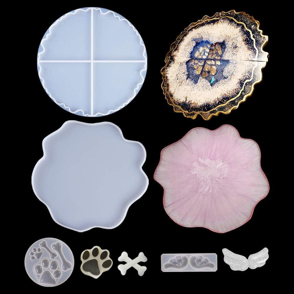 4 moldes de silicona para resina geoda (ver fotos)