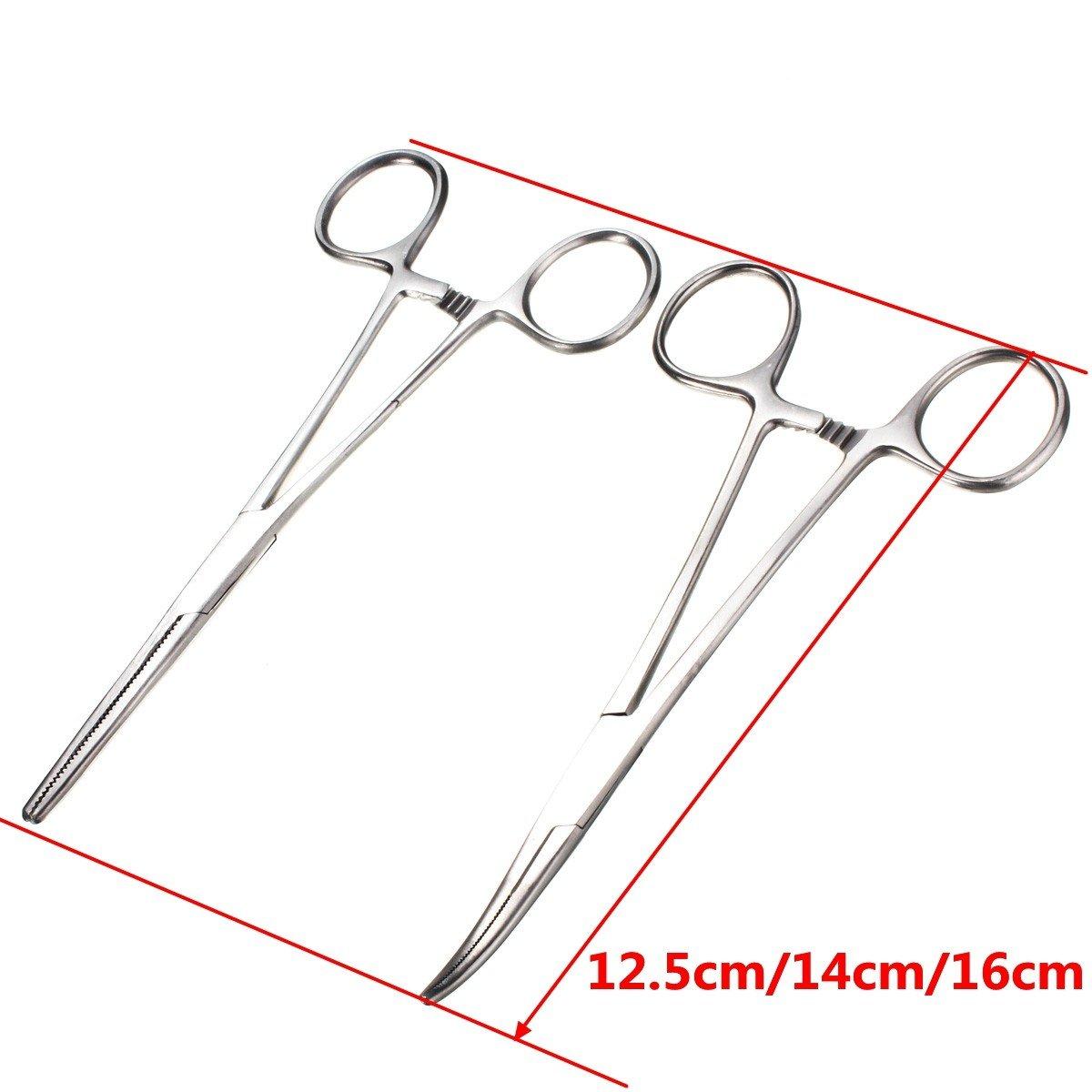 14cm ExcLent Pinzas Curvas Rectas Autoblocantes De Acero Inoxidable Enfermer/ía 12.5//14 16Cm