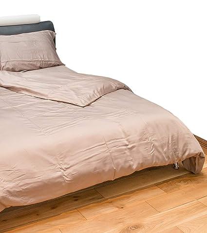 Juego de ropa de cama individual de 4 piezas de bambú verde de lujo, super
