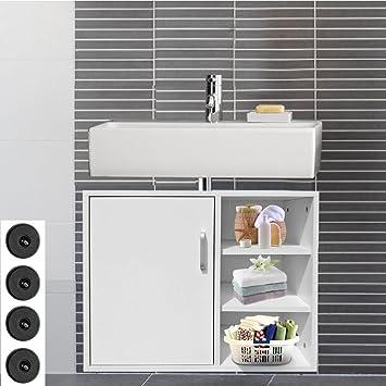 Waschbeckenunterschrank Weiß Badezimmer Waschbeckenschrank Unterschrank Holz