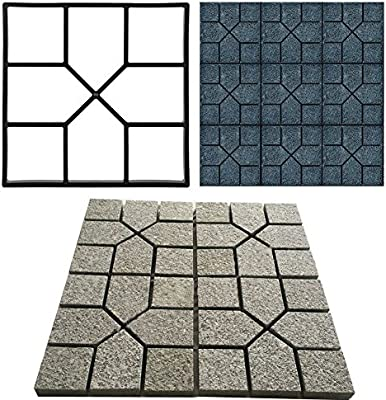 EBTOOLS Molde de pavimento, Molde de plástico para hormigón, Escalada, Piedra, jardín, césped, Piso, Azulejos, 40 x 40cm: Amazon.es: Jardín