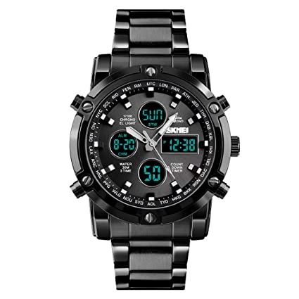 Amazon.com: bounabay de los hombres Analog Display reloj ...