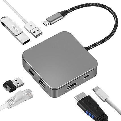 USB C Hub EUASOO 10 in 1 Thunderbolt 3 hub 1000M RJ45 Ethernet, USB C Adapter