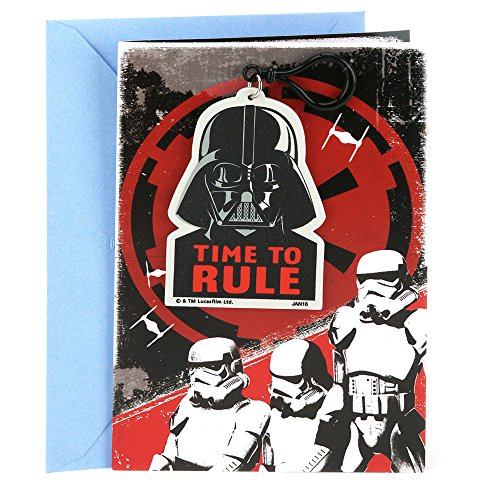 Hallmark Birthday Greeting Card for Kids (Star Wars Darth Vader Backpack Clip) (Birthday Star Wars)