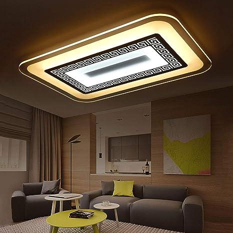 Lámpara de Techo Rectangular lámpara de salón Moderna LED ...