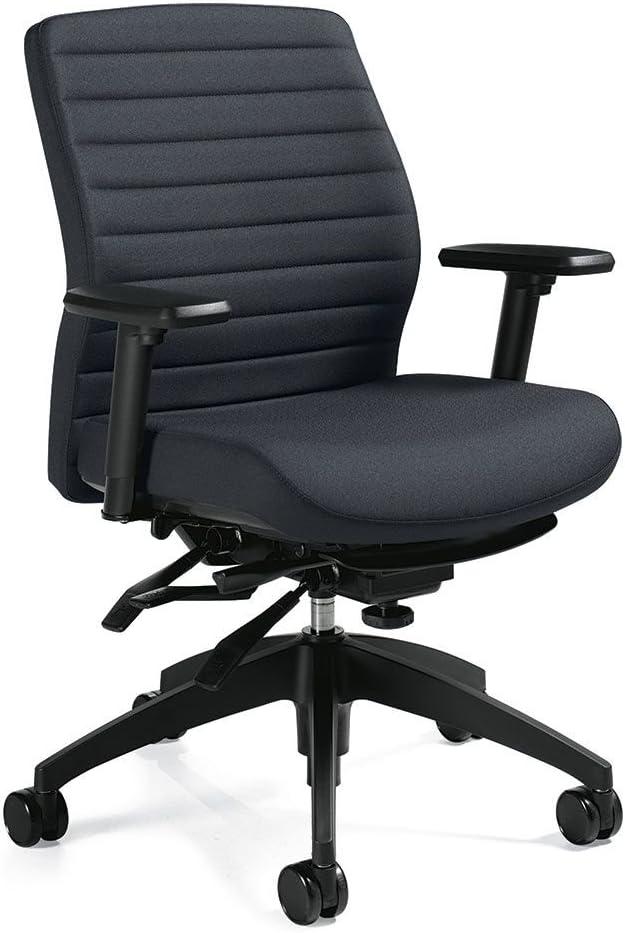 "Aspen Fabric Medium Back Multi-Tilter Task Chair Charcoal Fabric/Black Frame Dimensions: 25""W x 24""D x 37""H Seat Dimensions: 19.5""Wx18.5-21""Dx16.5-20.5""H"