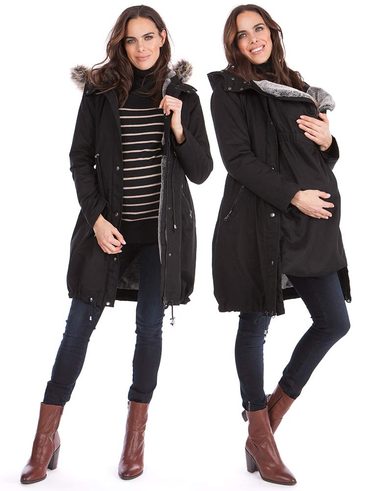 Seraphine Women's 3 in 1 Winter Maternity Parka Size 12 Black by Seraphine