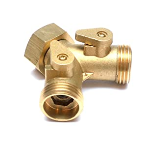 "Washing Machine / Laundry Sink Y Wye Water Splitter Valve 3/4"" Female GHT to 2x 3/4"" Male"