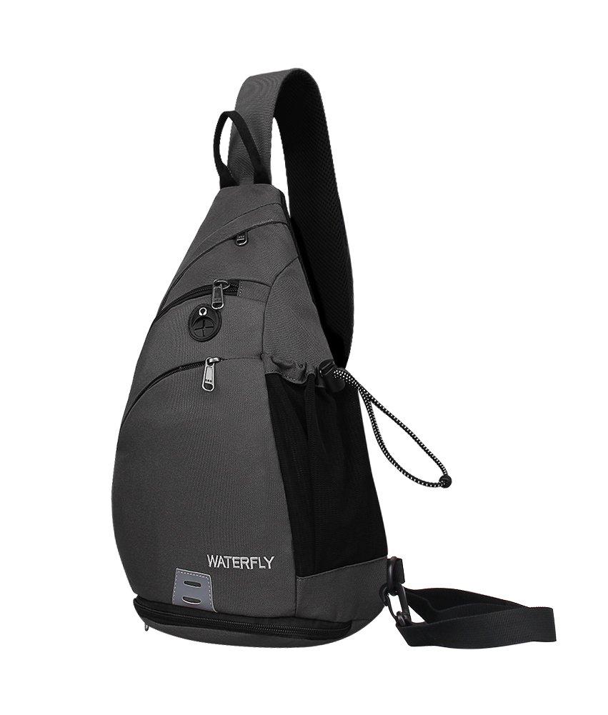 WATERFLY Sling Rucksack Sling Bag Schulterrucksack Umhä ngetasche Crossbag Kamerarucksack mit verstellbarem Schultergurt Perfekt fü r Outdoorsport, Wandern, Radfahren, Bergsteigen, Reisen