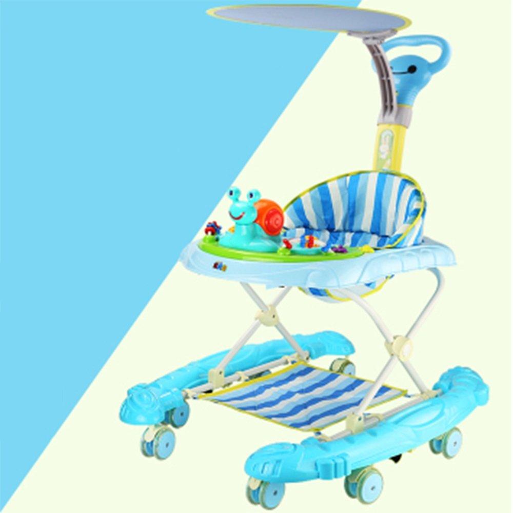 LVZAIXI 幼児幼児6 / 7-18ヶ月多機能アンチロールオーバーベビー音楽プッシュシート折りたたみ折りたたみ ( 色 : 青 ) B07CM536WF 青 青