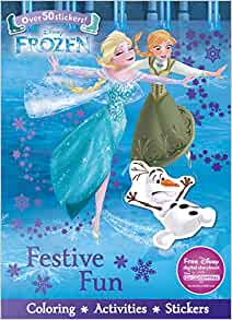 Disney Frozen Festive Fun Sticker Scenes Amp Coloring Book