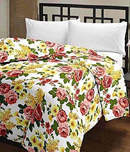 - idesign Beautiful Print Reversible Double Bed AC Blanket/Dohar Microfiber