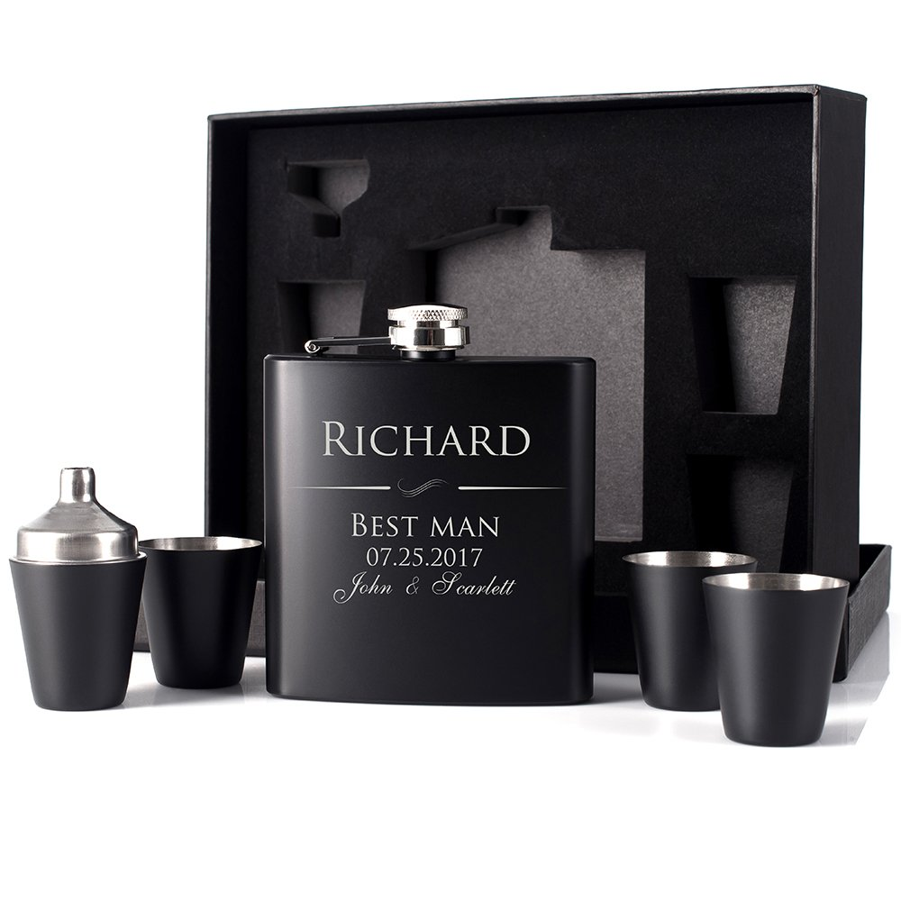 【日本製】 PラボGroomsmen ブラック Gift – ギフトメンズ6オンスヒップフラスコカスタマイズギフトウェディングFavor、マットブラック – PラボGroomsmen ブラック PLABFLASKWED-1 B073DR5J3J, 宇宙船 TOYS&FIGURES:eebe28d7 --- a0267596.xsph.ru
