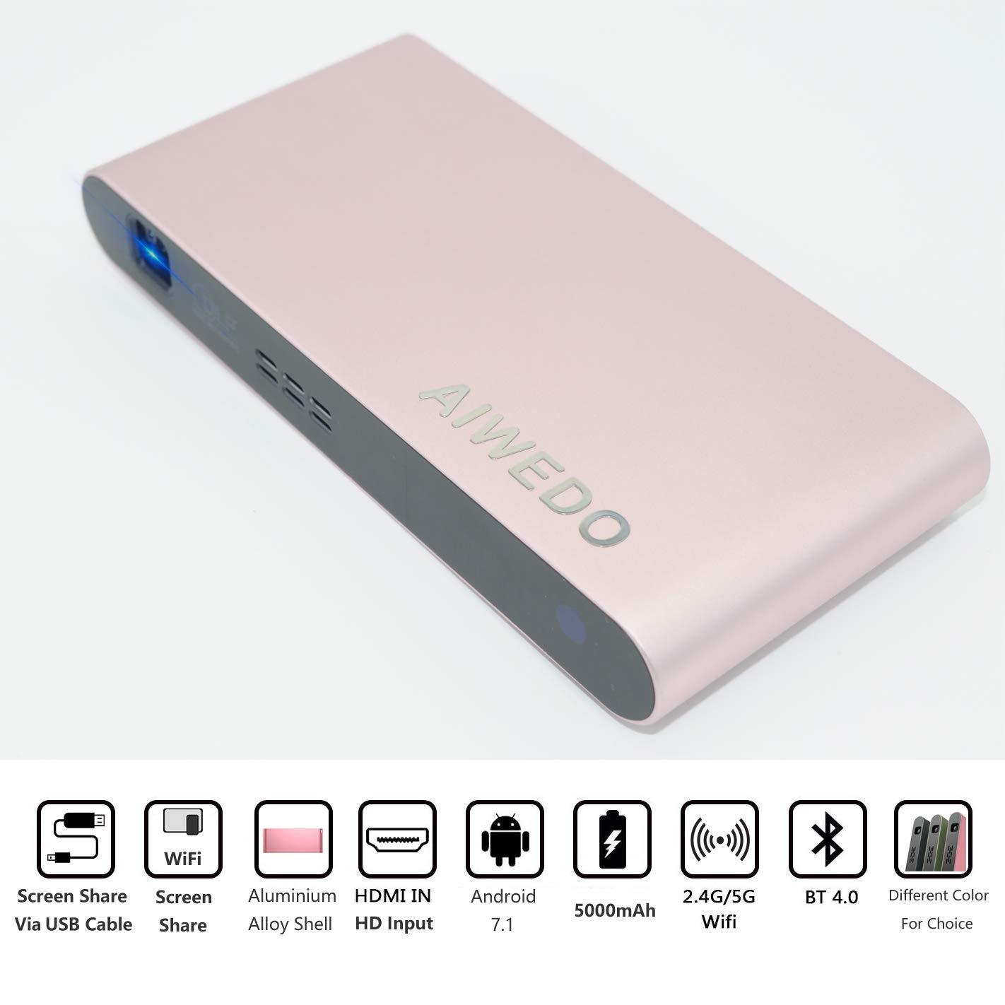 Amazon.com: AIWEDO Portable DLP Video Pico Mini Projector ...