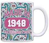 70th Birthday Gift Made 1948 Paisley Birthday Mug - Best Reviews Guide