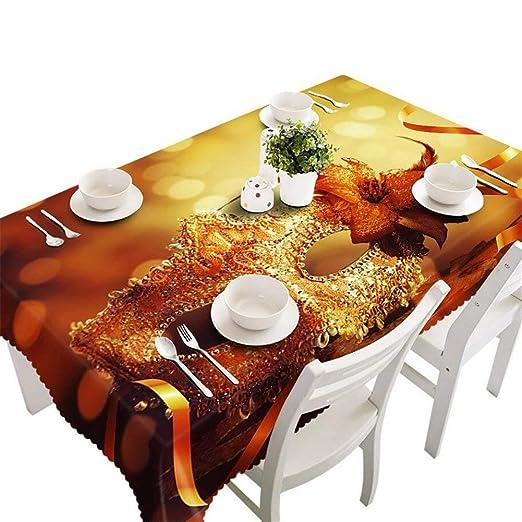 VAK Año Nuevo Hogar Cocina Comedor Decoración Mesa Mantel de ...