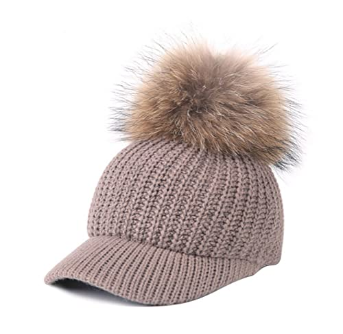TY fashion - Gorro - para mujer Marrón marrón claro Talla única