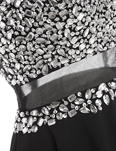 Dresstells®Vestido De Fiesta Corto De Gasa Espalda Transparente Negro