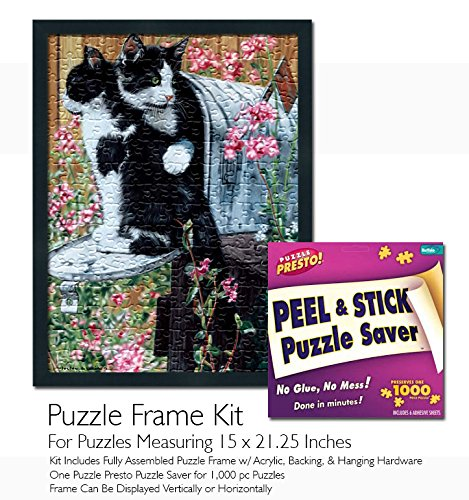 Jigsaw Puzzle Frame Kit - Made to Display Puzzles Measuring 21.25x15 Inches ()